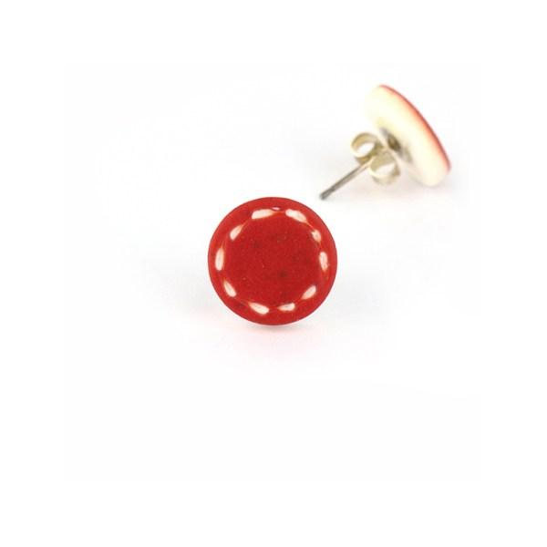 colourful stud earrings by nadege honey