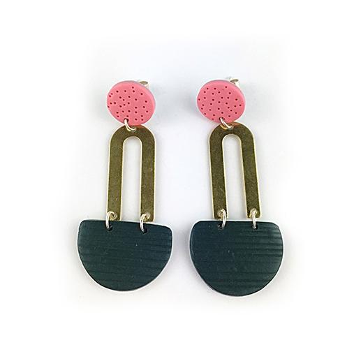 BRETON PINK earrings by nadege honey