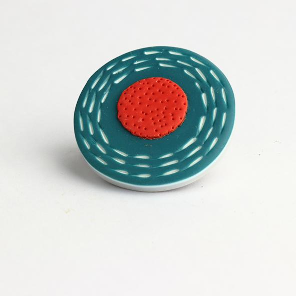 polymer clay brooch by nadege honey