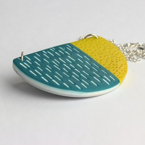 graphic half moon pendant nadege honey