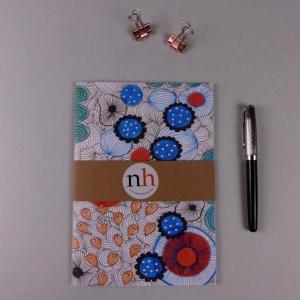 Notebook Floral Blue by Nadege Honey
