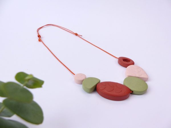 Botanica clay necklace by nadege honey