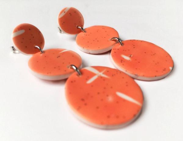 delicate polymer clay earrings