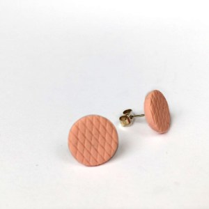 polymer clay studs by nadege honey