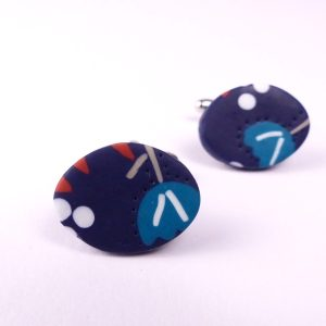 polymer clay cufflinks by nadege honey