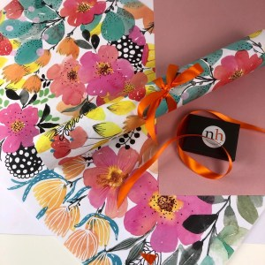 colourful gift wrap by nadege honey