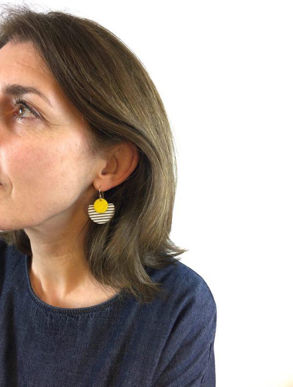 breton polymer clay earrings by nadege honey