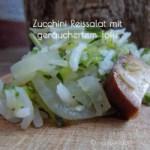 Zucchini-Reissalat mit Tofu