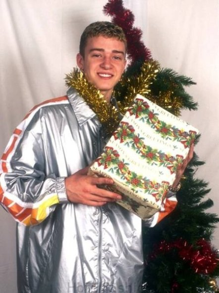 Justin Timberlake Christmas Photo