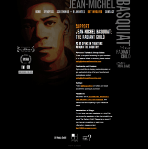 Jean-Michel Basquiat Web Site Get Involved Page