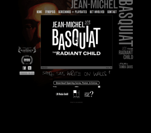Jean-Michel Basquiat Web Site Home Page