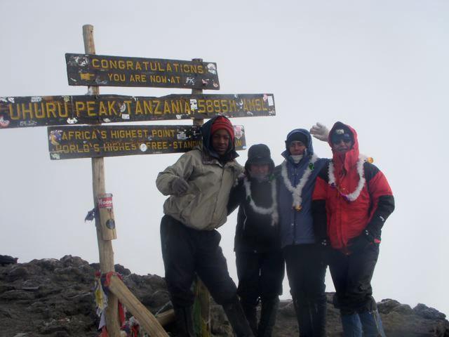 At 5895 meters on Uhuru Peak