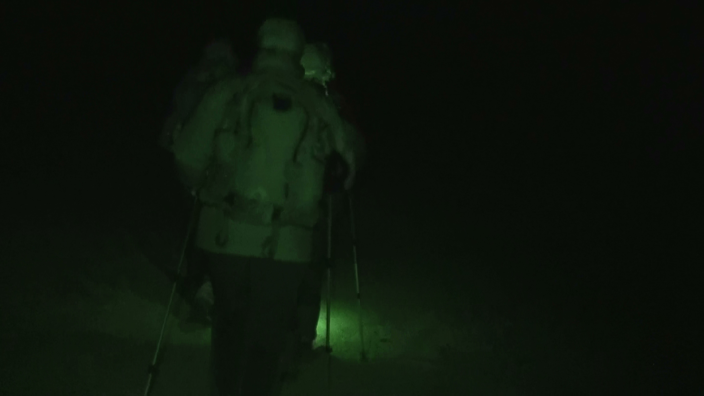 Hiking to the summit at midnight