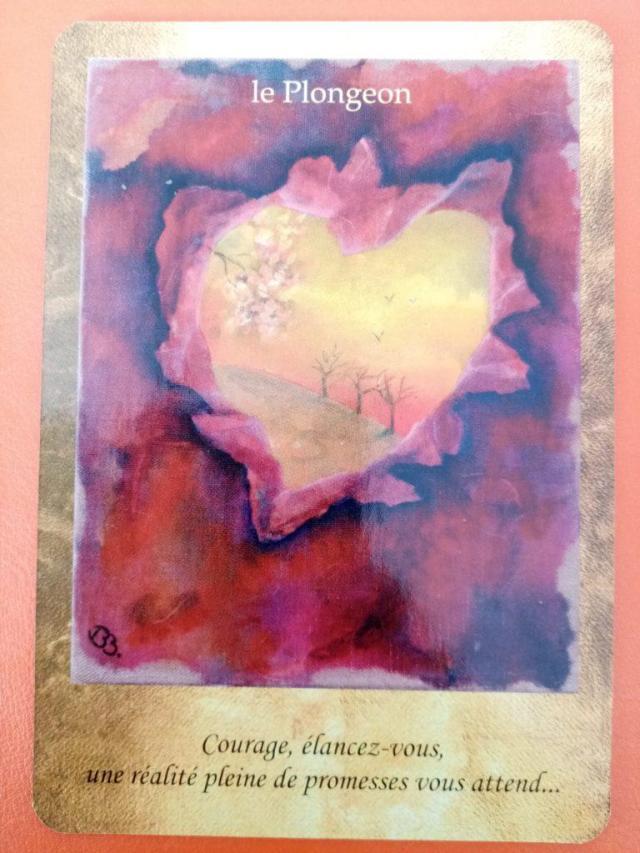 """Lecture de la carte oracle """"Le Plongeon"""" issue du jeu de carte """"les portes de l'intuition"""" de Vanessa Mielczareck"""