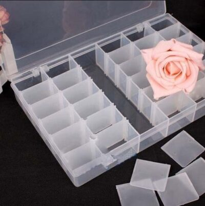 KM 36 Grid Cells Multipurpose Plastic Storage Box with Removable Dividers, White