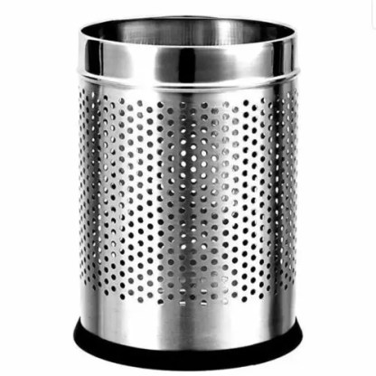 Stainless Steel Perforated Open Dustbin Stainless Steel Garbage Bin – 5 Litre