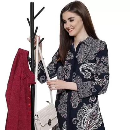 Coat Stand Rack Hanger for Clothes, Scarves, Handbags, Purses, Hats and Accessories Black