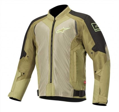 Air Jacket Black and Olive Green