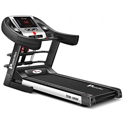 PowerMax Fitness TDM-100M (2.0HP) Motorized Foldable, Electric TreadmillWith LED Display BMI Calc. Spring Resistance