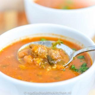 Moorse soep met witte bonen