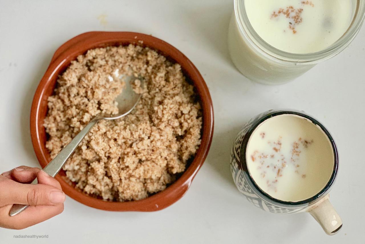 Iwzan met karnemelk ( tchicha/gierst)