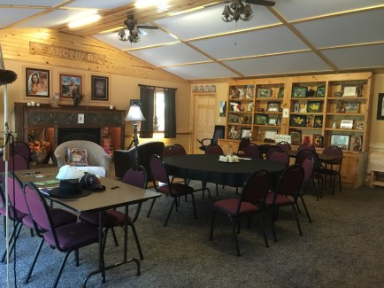 The spacious main house meeting room
