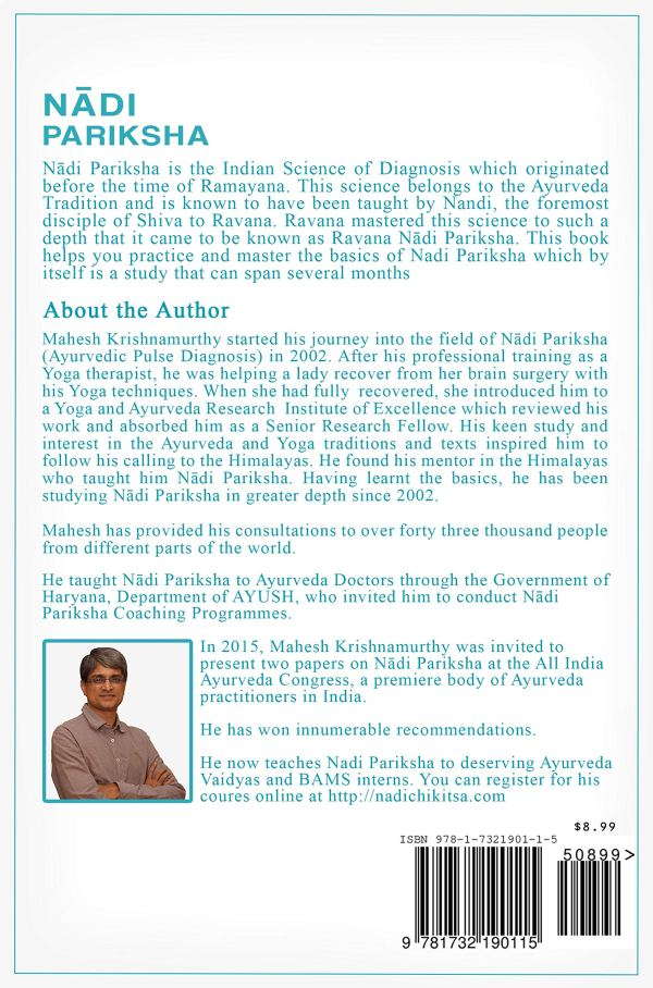Nadi Pariksha Pulse Diagnosis Book - The sacred science of pulse diagnosis Book back cover