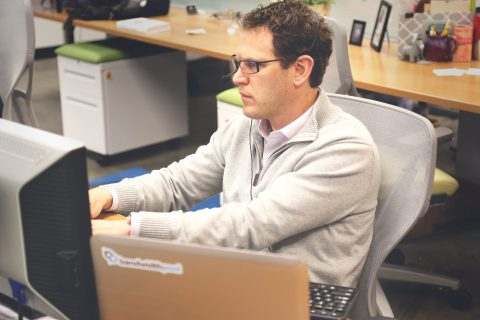 An IT professional at work