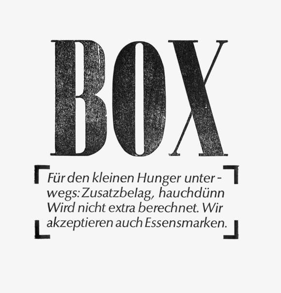kleiner Hunger - Formfleischvorderschinken - Poesie - Handsatz