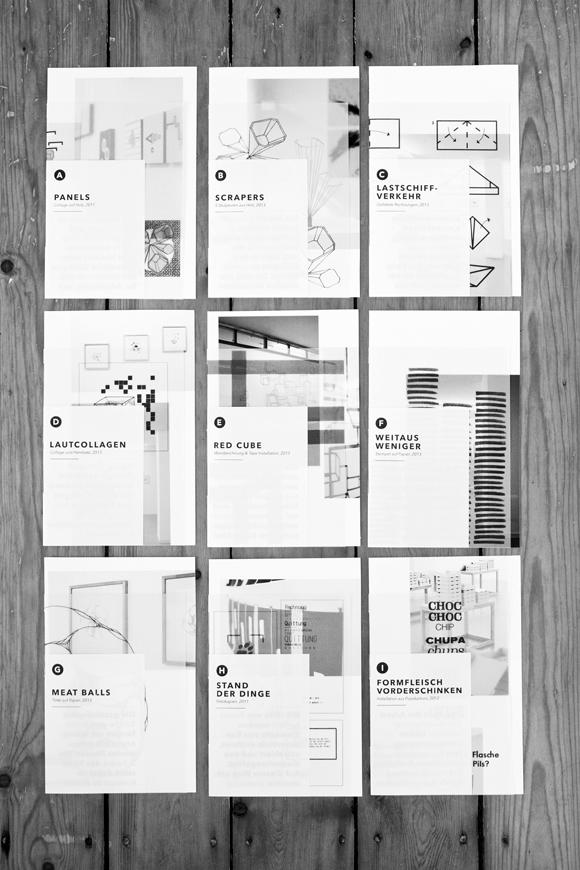 9 Hefte - Editorial Design - Kunst - Ausstellungskatalog - a2