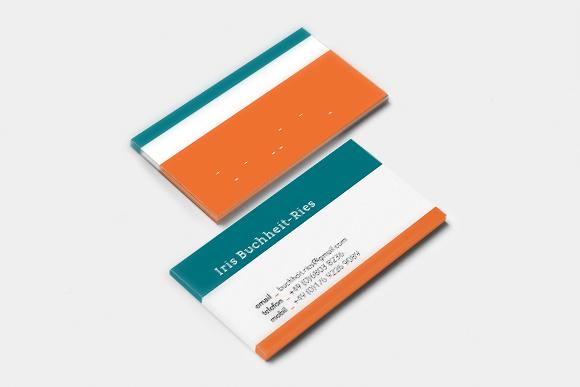 Visitenkarten - Detail - Iris Buchheit-Ries - Design - Gestaltung