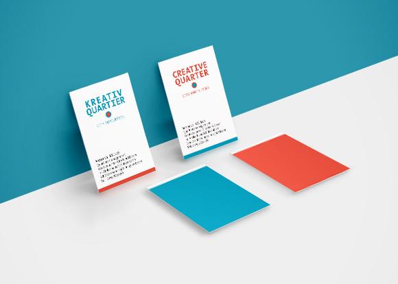 Kreativquartier Essen - Corporate Design - Visitenkarten - zweisprachig