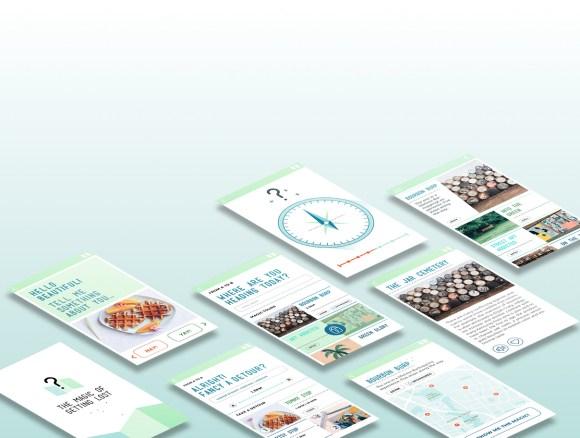 The Magic of Getting Lost - App - Screen Design - Gestaltung - Best Design - Navigator