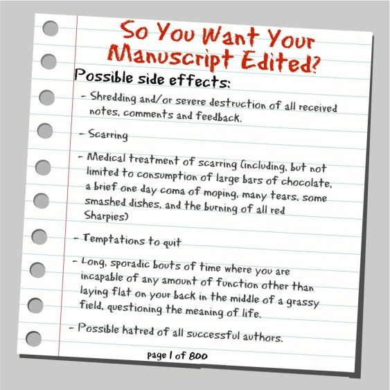 So You Want Your Manuscript Edited