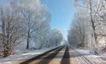 Winterstraßen in Belarus