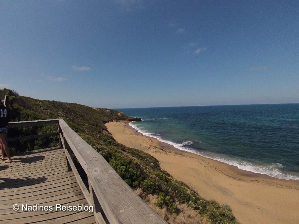 Blick auf den Surfstrand