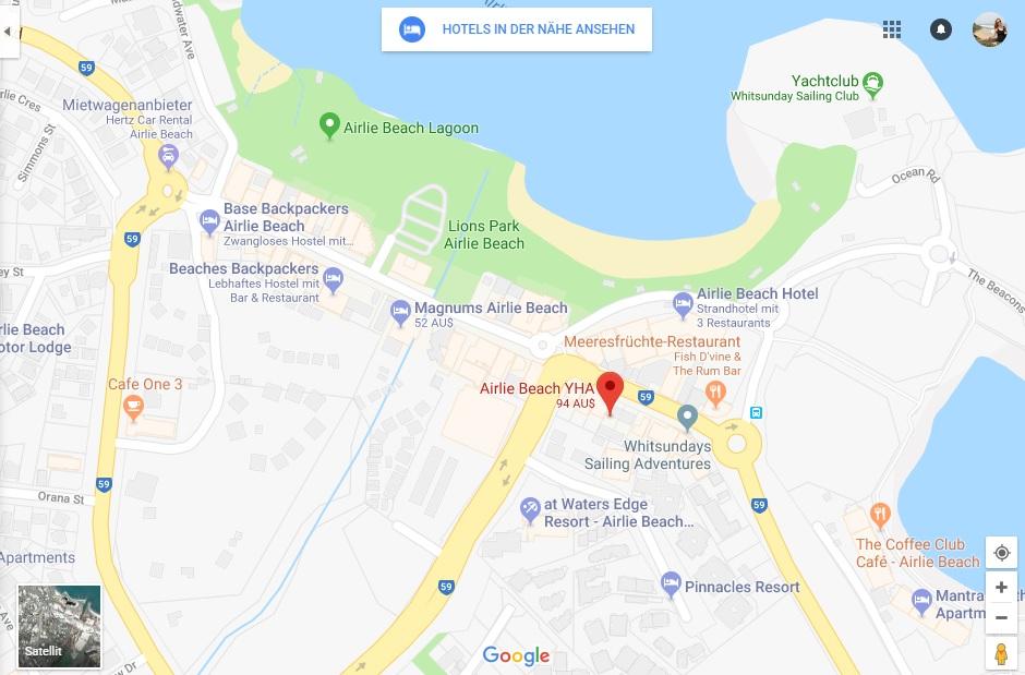 Karte von Airlie Beach