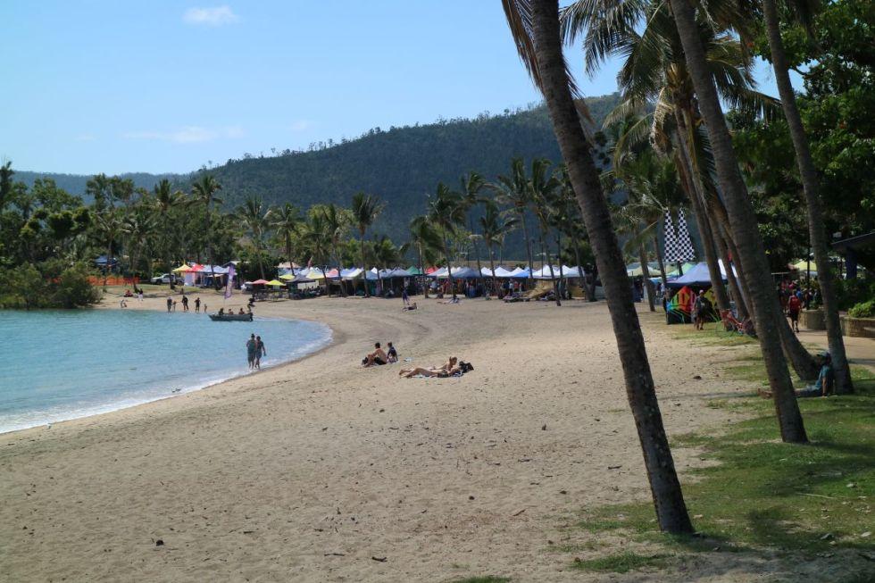 The beach of Airlie Beach