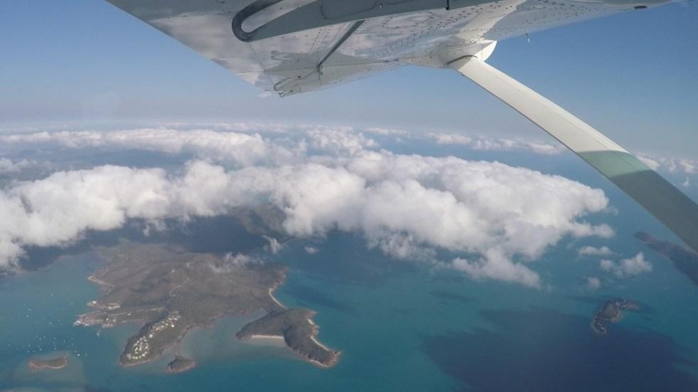 Skydive airlie beach ausblick flugzeug