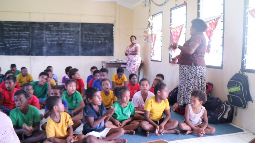 Singing school class of the Nacula Village