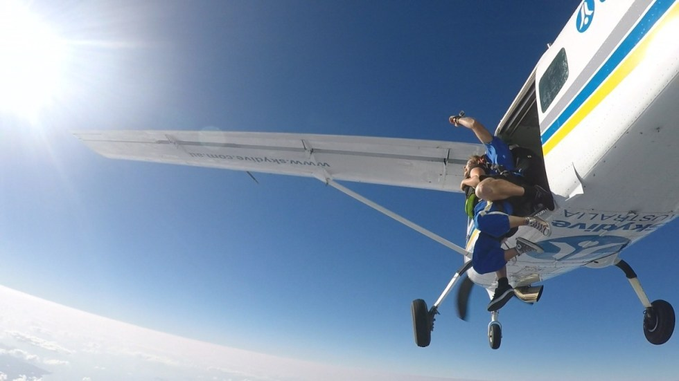 My skydive - jumping out of the plane