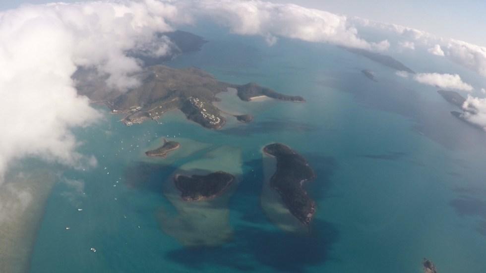 View onto the Whitsundays
