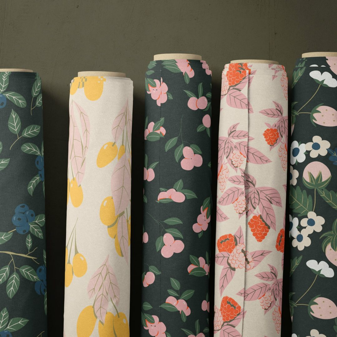 Berries Collection Fabric rolls