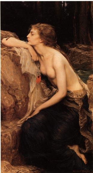 """Lamia"" de  Herbert James Draper, 1864-1920"