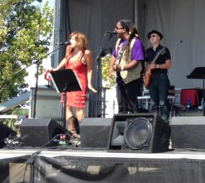 """Jill Jack & Nadir sing """"Cross The Line of Love"""" a forthcoming single they cowrote."""