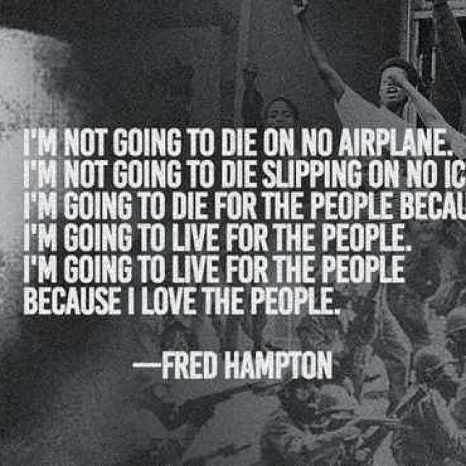 "Rest in Peace Chairman Fred Hampton Sr. Assassinated 49 years ago today by the Chicago Police Dept. and the FBI ""You can kill a revolutionary, but you can't kill the revolution.""#PowerToThePeople"