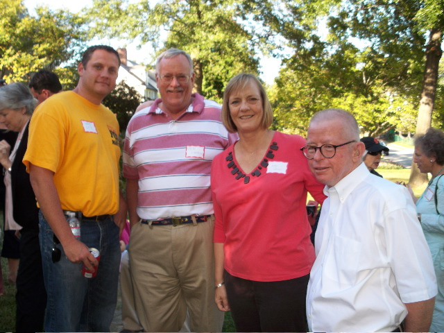 Chris Fox, independent candidate for Annapolis Mayor with Murray Hill residents, Peter and Judy Larson and Ward One Alderperson Dick Israel.