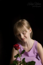 Girl with a rose portrait