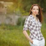 Портретная фотосессия на природе в Риге