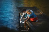 детская фотосессия у озера
